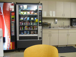 Every time you eat a vending machine lunch, a caveman cries.