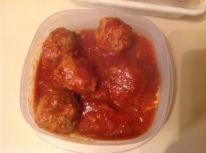 Meatballs in Marinara
