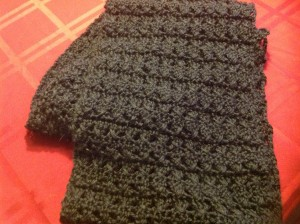 Just look at that infinity scarf! It's so lovely AND I made it!
