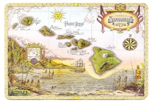 Vintage Map of Hawaii