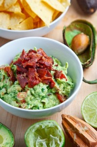 Guacamole with Bacon (YUM!)