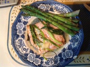 Chinese Steamed Tilapia with Asparagus