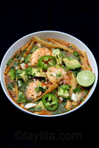 Paleo Tortilla Soup with Shrimp