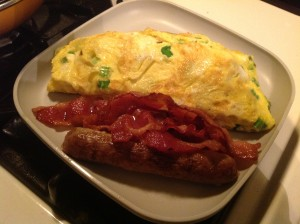 Thai Omelet with Sausage and Bacon...YUM