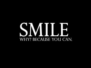 quote smile because you can via thingthatinspiree tumblr