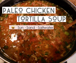 Paleo Chicken Tortilla Soup - SunSandSaltwater